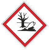 Anro Warn-Schild Sicherheits-Schild Hinweis-Schild Umweltschädliche & Giftige Stoffe und Materialien aus PVC 10x10 cm, Weiß