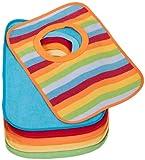 Bieco Baby und Kleinkind Lätzchen 6er Groß mit Klettverschluss in tollen Farben für Jungen und Mädchen, Klettverschluss und doppelseitig mit außen Baumwolle, abwaschbar und wasserdicht  38000123