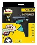 Pattex Made at Home Heißklebepistole / Klebepistole mit mechanischem Vorschub und hitzeisolierter Düse / Set mit Pattex Heißklebepistole + 6 Klebesticks, Ø 11 mm