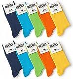 10 Paar Socken von Mat & Vic's für Sie und Ihn - Cotton classic bequem ohne drückende Naht - angenehmer Komfort-Bund - OEKO-TEX Standard 100 (35-38, Trend Colors)