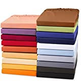 aqua-textil Exclusives Spannbettlaken 90x200-100x220 Baumwolle Elasthan Bettlaken 1000001 dunkel grau