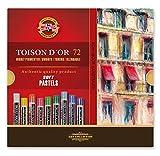 Koh-I-Noor TOISON D'OR 8517 - Pastellkreide runde Künstler-Softpastelle - 72 Stück