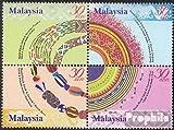 Prophila Collection Malaysia 1029A-1032A Viererblock (kompl.Ausg.) 2001 Perlenstickereien (Briefmarken für Sammler)