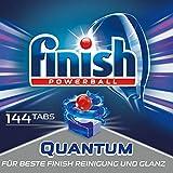 Finish Quantum Spülmaschinentabs für 3 Monate, Gigapack, 1er Pack (1 x 144 Tabs)