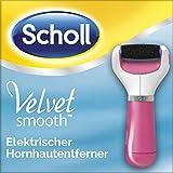 Scholl Velvet Smooth elektrischer Hornhautentferner Express (pink) - Für die Anwendung auf nassen, feuchten oder trockenen Füßen - Mit Rolle Extra Stark mit Diamantpartikeln, 1 Gerät inkl. Ersatzrolle