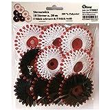 10 Sterne a. 20 m Sternzwirn Polyester schwarz & weiß, Sternchenzwirn Stern - Zwirn, E90083