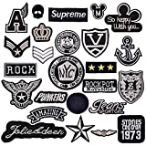 Tesan 25 Stk Patches Set Aufnäher Patch, Patch Sticker Applikation,Niedlich Aufnäher Bügelbild Kleidung Patches Iron on Patch für T-Shirt Jeans Taschen