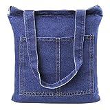 Neue Art Jeansstoff Damentasche Robuste Schultertasche für Shopping Freizeit Casual Henkeltasche Lady Bag Einkaufstasche Shopper