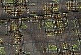 alles-meine.de GmbH 1 m * 1,4 m Stoff - Baumwoll - Jeans Stretch Stoff mit Karomuster und 3-D Blütenmuster - Stoffe Meterware / Stretchstoff - z.B. für Hosen, Westen, Kleider
