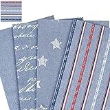 Jeansstoff - 100% Baumwolle /Deko- und Polsterstoff / bedruckt - Meterware 1,40m breit / Jeans - Stripes
