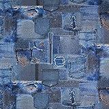 Fabulous Fabrics Dekostoff Ottoman Jeans - blau - Meterware ab 0,5m - zum Nähen von Kissen, Vorhänge und Homeaccessoires