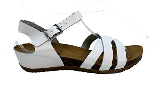 Yokono CAPRI-006 Damen Bio-Jeans, Weiß...