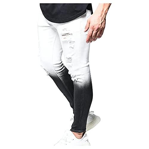 BIBOKAOKE Herren Jeans Slim fit, Tie Dye...