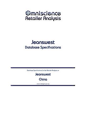 Jeanswest - China: Retailer Analysis...