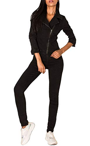 EGOMAXX Damen Jeans Anzug Overall Biker...