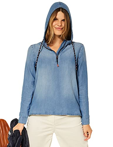 Cecil Damen 342824 Bluse, mid Blue wash,...