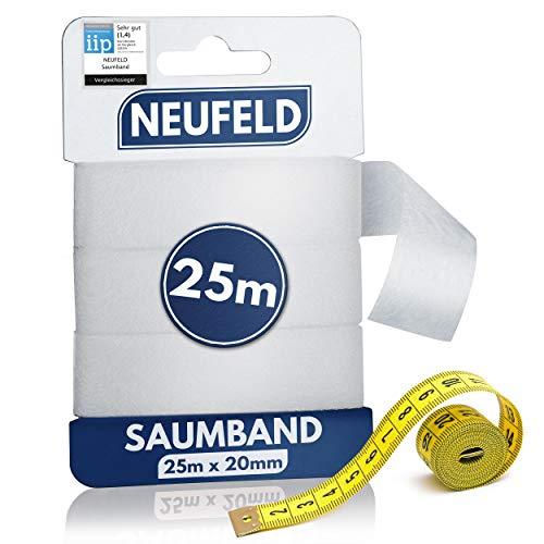 NEUFELD® Saumband zum Aufbügeln 25m...