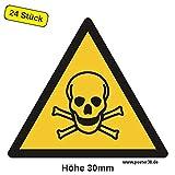 Warnung vor giftigen Stoffen 30 mm (24 Stück)