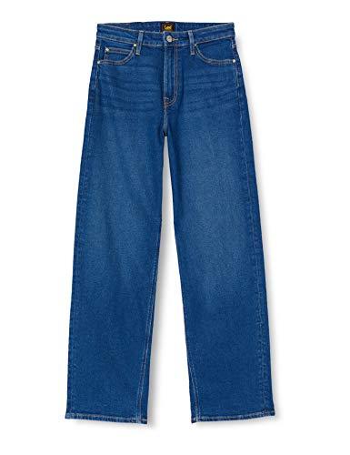 Lee Womens Wide Leg Jeans, Dark Dora,...