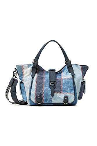 Desigual Womens Denim Shoulder Bag,...
