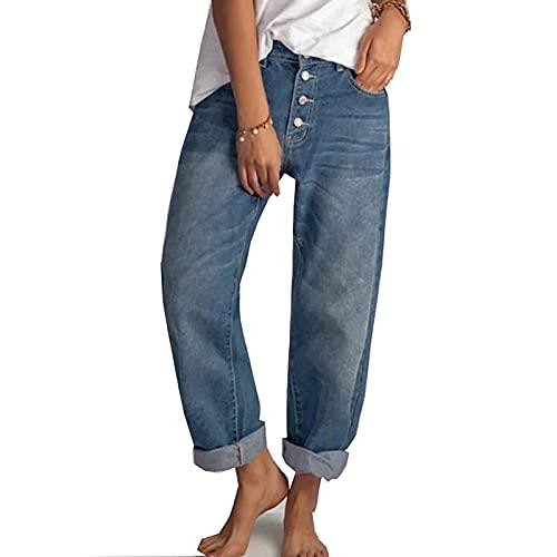 Yokbeer Damen Casual Straight-Leg Jeans...