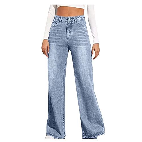 BIBOKAOKE Baggy Jeans Damen High Waist...