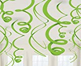 amscan 12 Deko-Spiralen, Kiwi, Amerikanische Größe