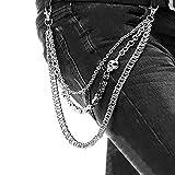 ZOYLINK Hose Kette Jean Brieftasche Kette Mode Hip Hop Gothic Punk Hose Kette für Männer … (Typ 1)