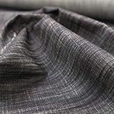 TOLKO Baumwollstoffe Sommer Jeans Stoff in Leinen-Optik   weicher Bekleidungsstoff für Hose Jacke Rock aus 100% Baumwolle   Meterware 155cm breit (Rauch Schwarz)