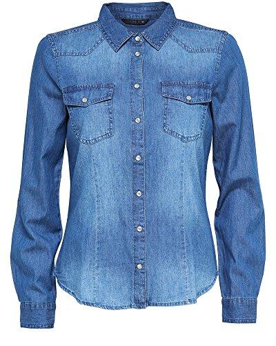 ONLY, Damen Regular Fit Hemd,...