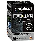 Simplicol Farberneuerung Back-to-Black, Schwarz: Farbauffrischung und -Erneuerung in der Waschmaschine, Hautfreundlich, All-in-1 DIY Färbemischung mit Textilfarbe für Stoffe