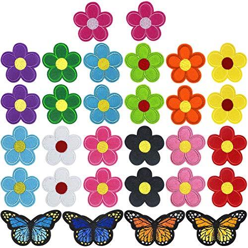 30 Stück Blumen Schmetterlinge...