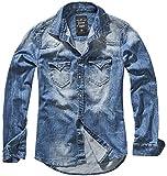 Brandit Denimshirt Riley - Blue - L