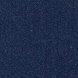 Vorgewaschener Denim, Jeansstoff Jeansblau (9,2 oz), Meterware per 0,5 m