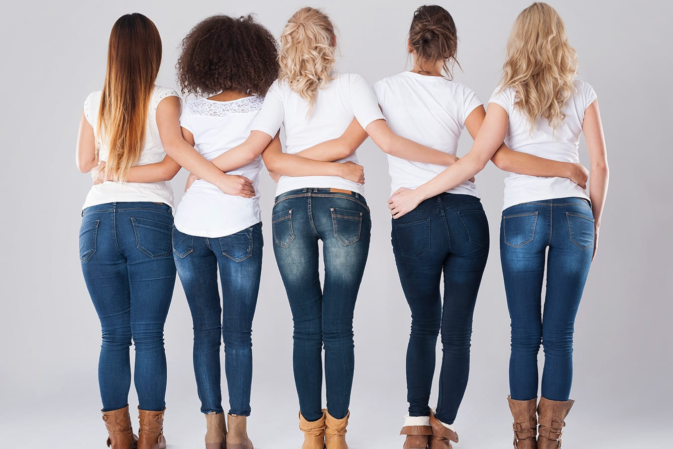 Welche Jeans Formen passen zu welcher Figur